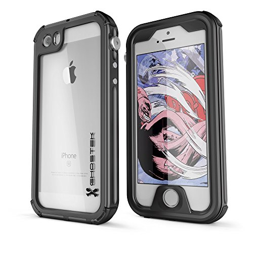 DualPro Shockproof Case for Apple iPhone SE/5S/5 (Black) - 2