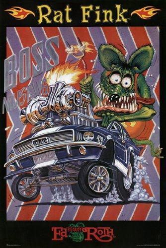 RAT FINK POSTER Boss Mustang RARE HOT NEW 24X36 (Rat Posters Fink)