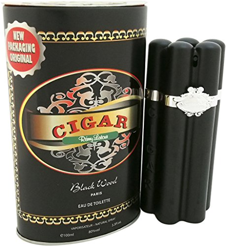 Remy Latour Cigar Black Wood Eau de Toilette Spray for Men, 3.3 ()
