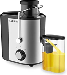Juicer, Bagotte Juicer Machines Fruit and Vegetable JuicerEasy Clean Juicer, Stainless Steel, Dual-Speed, BPA-Free