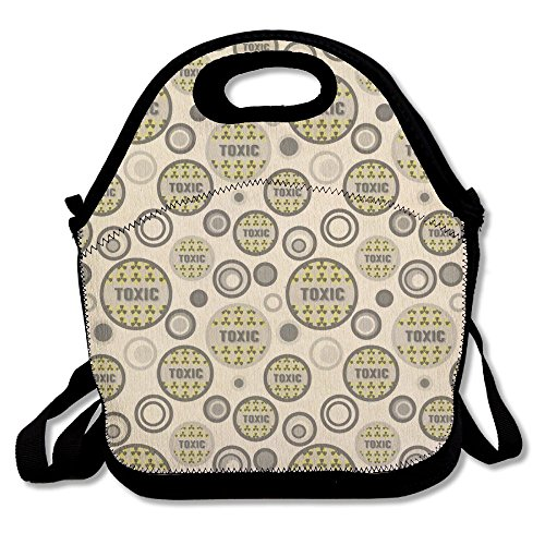 IEIDJFF Toxic Warning Radiation Lunch Bag Custom Playful For Womens