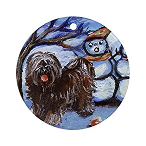 CafePress - TIBETAN TERRIER 4 seasons Ornament (Round) - Round Holiday Christmas Ornament