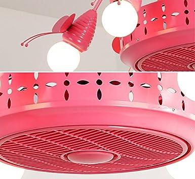 Lámpara de techo invisible con lámpara de araña de 6 ventiladores ...