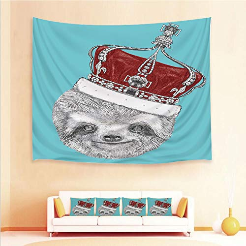 Imperial Sign Neon (iPrint 1pcs Hanging Tapestry 4pcs Pillow case,Wall Hanging Blanket Beach Towels Picnic Mat Home Decor Imperial Ancient Crown King Laziness Theme,3D Printed Tapestry Bedroom Living Room)