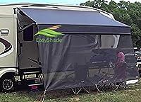 EasyShade RV Awning Sun Shade Panels Sun Blockers Awning Shade Cloth Black 15ft x 7ft drop …