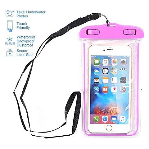 Universal Waterproof Case, NOKEA Dry Bag for Apple iPhone 7, 6S, 6, 6S Plus, SE 5S 5C, Samsung Galaxy S7 Edge, S7, S6, S5, S4, Note 5 4, HTC LG G5, G4, Sony Nokia Motorola up to 6.0