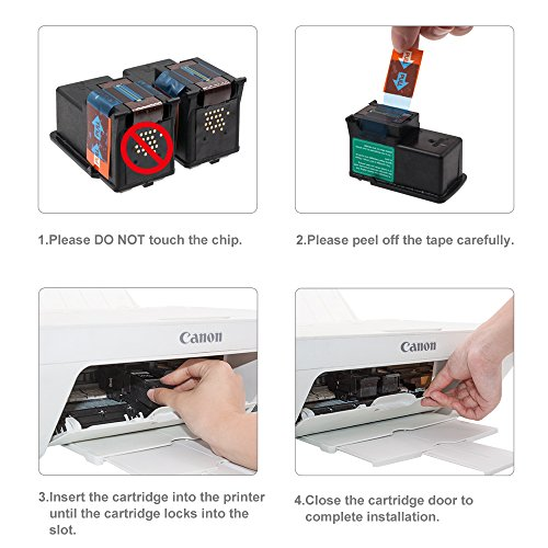 GPC Image PG-210XL Remanufactured Ink Cartridge (InkLevel Chip) Replacement for PG210 XL 210XL PG 210 XL for PIXMA iP2702 MP495 MP240 MX410 MP280 MP480 MX360 MX420 Printer High Yield (2 Black) Photo #5
