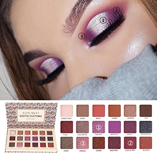 Oksale® 18 Colors Eye Shadow Makeup Pearl Metallic Eyeshadow Palette (B)