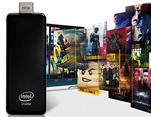 MEEGOPAD T01 Quad Core Windows 8 Mini PC TV Dongle 2G/32G WiFi BT US Plug (Black)