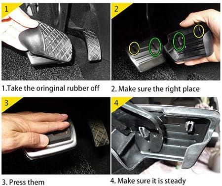compatibile con Q5 2017-19 Q5L SQ5 FY 2018 2019 Copripedale per pedale del freno a gas in acciaio inox antiscivolo