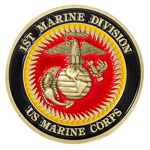 United States Marine Corps 1st Marine Division Challenge Coin