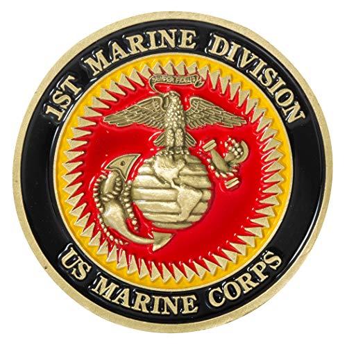 United States Marine Corps 1st Marine Division Challenge Coin - Marine Division Challenge Coin