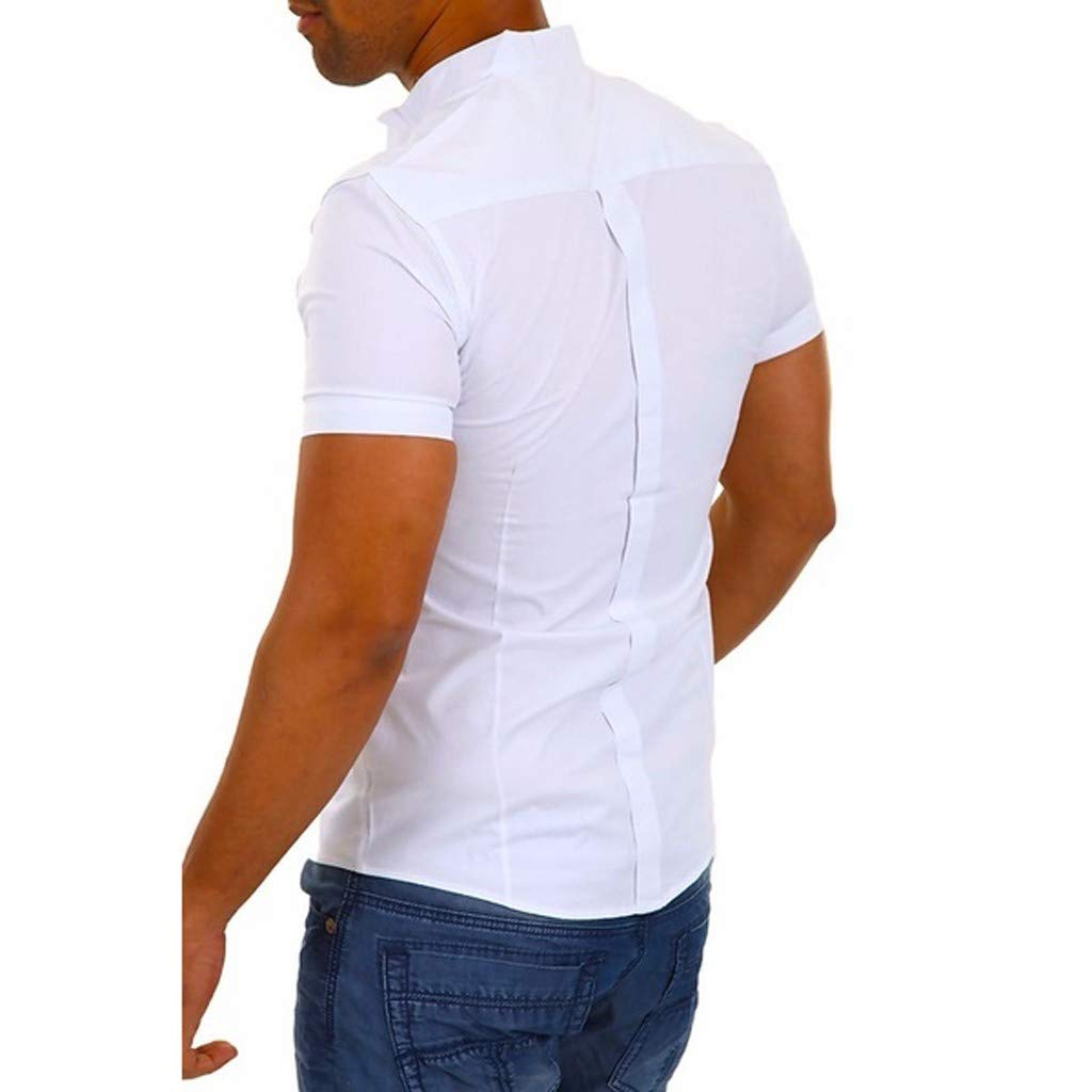 Mymyguoe Camiseta básica de Manga Corta Blusa Fit Slim Top ...