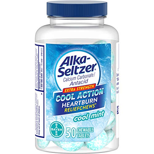 Alka-Seltzer Cool Action Extra Strength Heartburn Relief Chews, Cool Mint, 50 Chewable Tablets