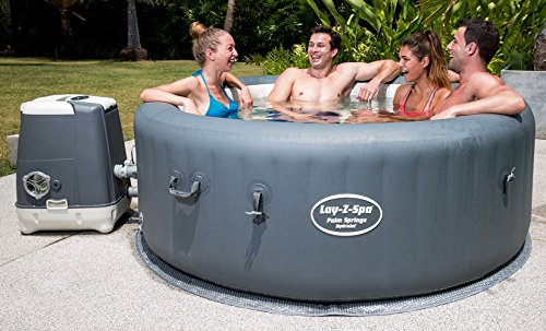 Lay-Z-Spa BW54144 Palm Springs HydroJet Hot Tub, Inflatable Spa, 4-6 Person