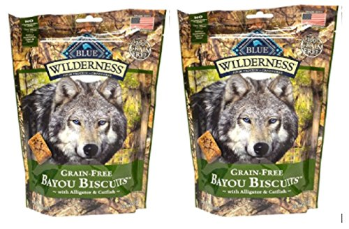 Blue Buffalo Grain-Free Bayou Biscuits with Alligator & Catfish - 2 Pack