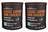 Classic Caramel Dark Chocolate - Dairy-Free, Vegan Premium Hot Chocolate Mix - Just Add Water - 14 oz (Pack of 2)