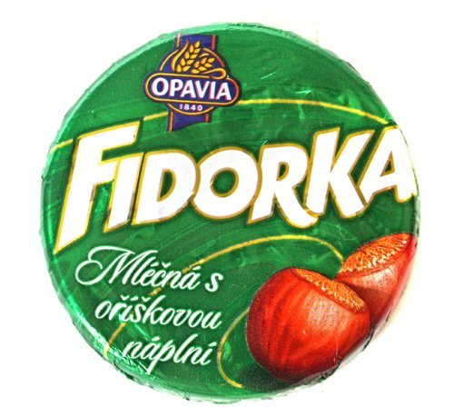 Chocolate Covered Wafer - Opavia Fidorka Green 5-pack 5x30g/5x1.1 Milk Chocolate Coated Wafer with Hazelnut Filling