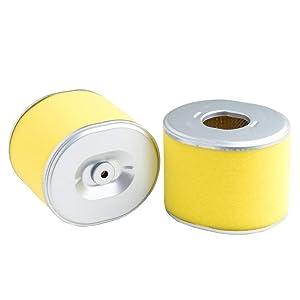 HEYZLASS 2-Pack 17210-ZE3-505 Air Filter, Replace for Honda GX390 GX340 13 HP 11 HP OEM Air Cleaner and More, Plus Foam Pre Filter