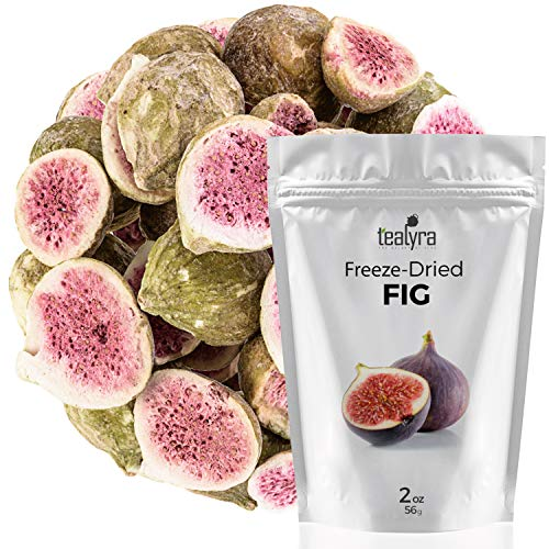 Fig - Freeze Dried Fruits Snacks Chunks - Non-GMO - Gluten-Free - No Sugar Added - 100% Natural and Organically Processes - Tealyra