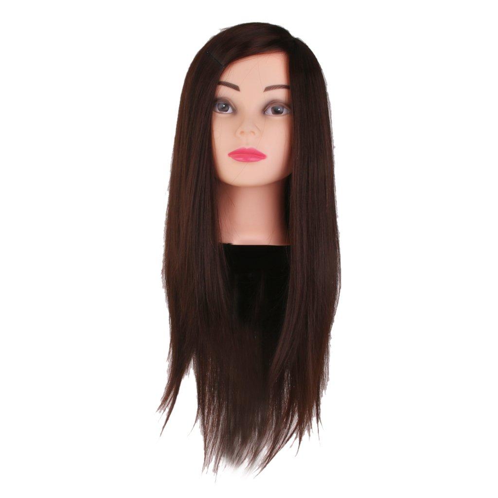 Salon Hairdressing Hair Styling Training Head Mannequin 16'' w/ Holder Generic