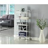 plonpl Five Tiers Storage Cart Rack Organization Shelf Wheels For Kitchen Office Bedroom Bathroom Washroom Multifunctional Service Shelves
