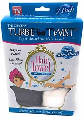 Turbie Twist Microfiber Hair Towel (2 Pack) Grey-Light Pink