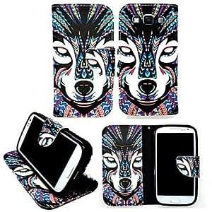 WQQ Teléfono Móvil Samsung - Carcasas de Cuerpo Completo/Fundas con Soporte - Gráfico - para Samsung Galaxia A3 Cuero PU )