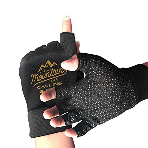 (WAYOULUCK Women's Men's Owl Explore Half Finger Gloves Non-Slip Fitness Glove)