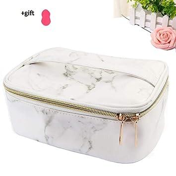 Amazon.com: Neceser de viaje de mármol con diseño portátil ...