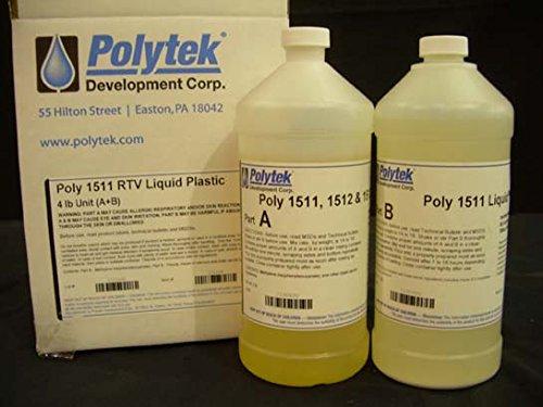Polytek Poly 1511 Liquid Plastic - 4lbs Rigid Polyurethane Mold