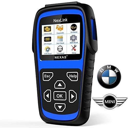 Diagnostic Scanner Tool Automotive Scanner for BMW MINI, NEXAS ND601 OBD II OBD2 Scanner Multi-System Fault Code Reader for Engine/Transmission/ABS/SRS/EPB/DPF Regen/Battery Register/SAS & Oil Reset