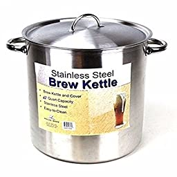 Polar Ware 42 Qt Stainless Steel Brew Pot with Lid for Homebrewing