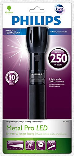 Philips SFL7000/10 Shock Resistant Metal Pro LED Torch by Philips