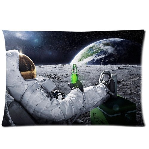 personalized-pillowcase-astronaut-enjoying-a-carlsberg-on-the-moon-pillow-cover-design-zippered-pill