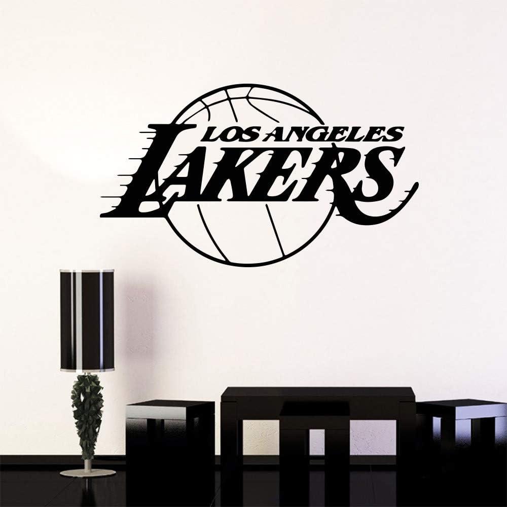 Stickers Suuyar Basketball Los Angeles Lakers Wall Sticker Art Decoration Living Room Kids Room Bedroom Decor If Lebron James Car Wallpaper 74x43cm Home Mceadvisory Com