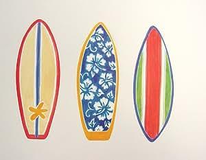 Tropical Colorful Bright Surf Boards Hawaiian Wallpaper Wallies 25pk