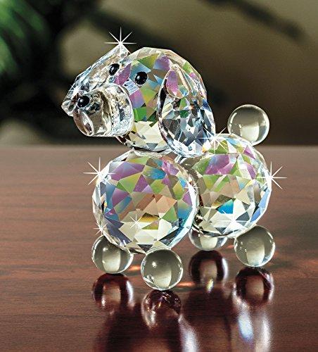 The Paragon Crystal Collectible - Petite Crystal Dog Figurine, Glass Trinket (Dog Ornament Figurine)