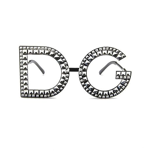DIAOSI - Gafas de Sol de imitación con Diamantes C: Amazon ...