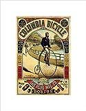 PENNY FARTHING BICYCLE BOSTON USA VINTAGE ADVERT RETRO FRAMED ART PRINT B12X483