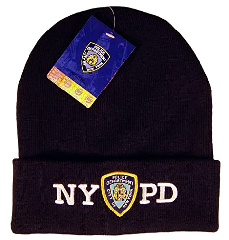 Amazon.com  NYPD Navy Winter Hat Beanie Skull Cap Officially ... c6af8aae2dd