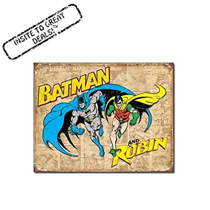 Amazon.com: Retro Batman and Robin Nostalgic Funny Vintage Tin Sign ...