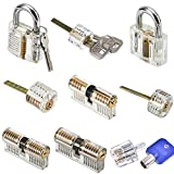 MICG A-bloy Cutaway Lock Transparent Training Skill Professional Visible Practice Padlocks Lock Pick