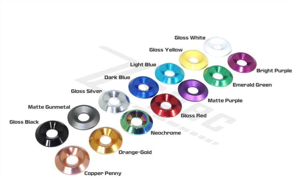 ZSPEC Design Metric Dress-Up Bolt FHSC M6x20mm /& Billet Washers TM 25-Pack Pack