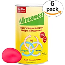 ALMASED® Diet Protein Powder - 6 Pack + Free Stress Ball. Weight Loss Protein Support - Optimal Maximum Health and Energy - Lose Weight and Keep the Weight Off - (17.6 ounce each) Almased®