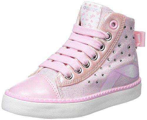 Geox Jr Ciak B, Zapatillas Altas Para Niñas Rosa (Pink)