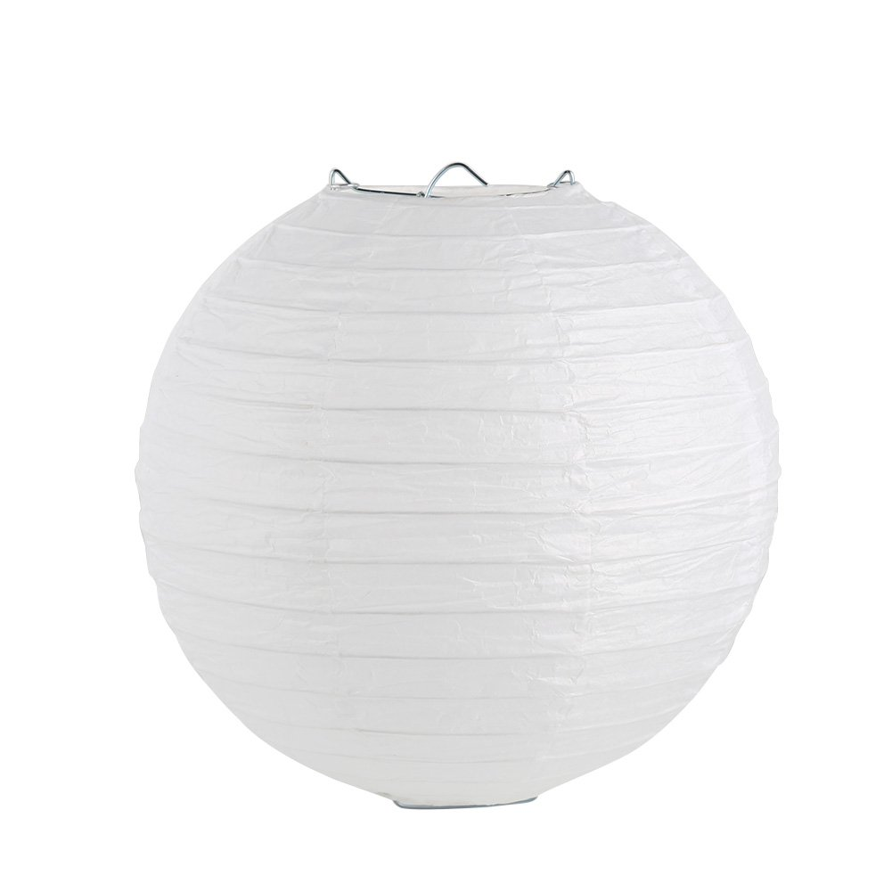 Accreate LingStar Home Round Chinese/Japanese Paper Lanterns Lamp Shades Wedding Party Decoration White 20cm