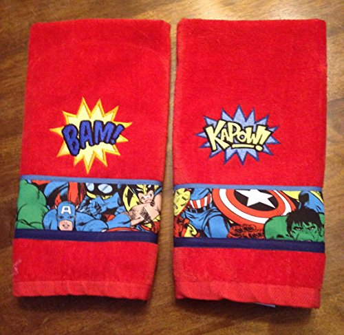 Set of 2 Super Hero Hand Towels