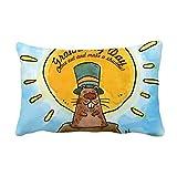 DIYthinker Groundhog Day USA America Canada Festival Throw Lumbar Pillow Insert Cushion Cover Home Sofa Decor Gift