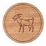 "Goat Circle Magnet, Round Magnet, 2"" Refrigerator Magnet"